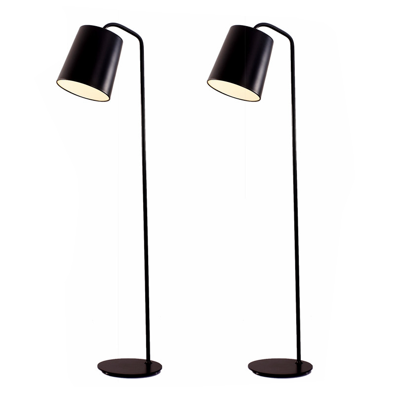Modern simple standing Lamp black white color lampshade E27 led lamp floor light Living Room reading bedroom office home use