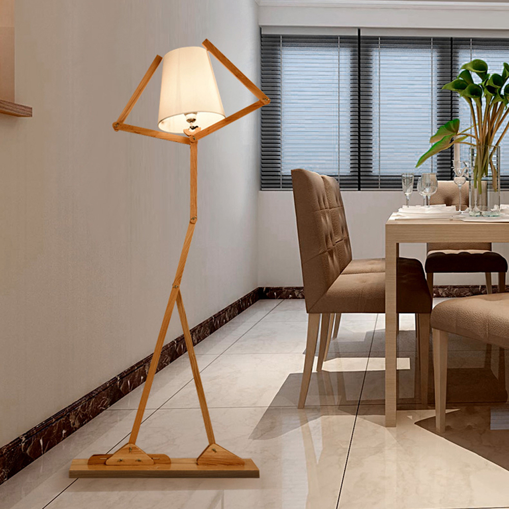led e27 Nordic Fabric Wood Iron Robot LED Lamp LED Light LED Floor Lamp Floor Light For Foyer Dinning Room Bedroom Store