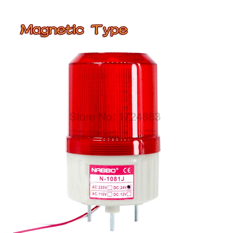 Magnetic Rolling Strobe Signal Warning light N-1081 12V 24V 220V Indicator light LED Lamp small Flashing Light Security Alarm
