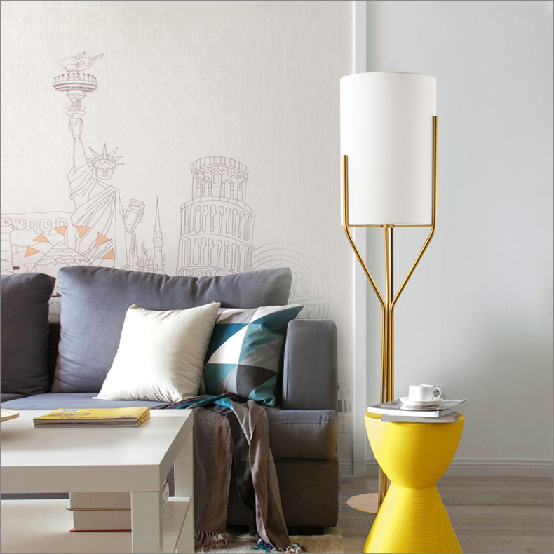 Post-modern Designer Iron Fabric Trident Led E27 Floor Lamp For Living Room Bedroom Study H 140/160/180cm 80-265v 1606