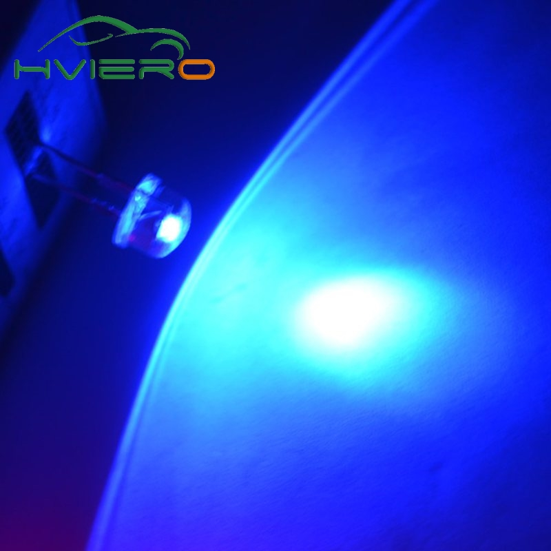 50pcs 8mm 0.5W white red yellow blue green Diode Led power straw hat lamp bead lightemitting diodes Lamp bulb Super bright light