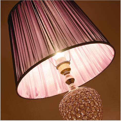 modern brief elegant fabric crystal e27 four colors 160cm foot switch floor lamp livingroom bedroom guest room light AC90-260v53