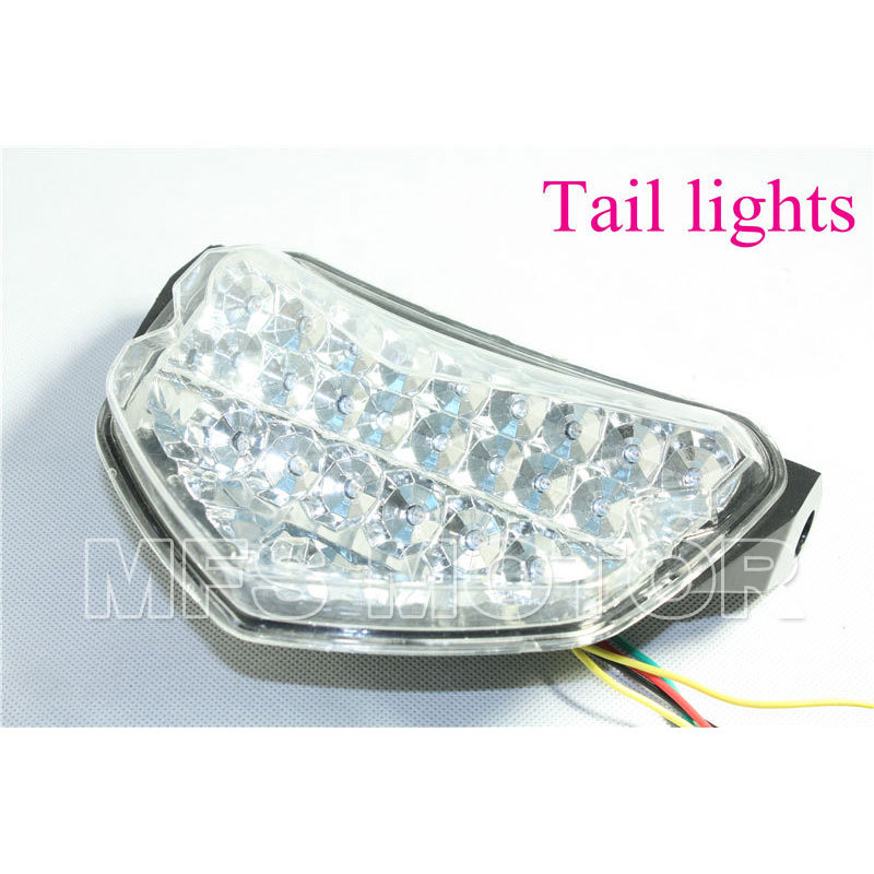 For Suzuki GSX-R GSXR 600 750 2004-2005 GSXR1000 2005-2006 Motorcycle motor Clear parts LED Tail Light