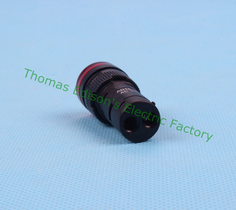 20pcs/lot LED indicator lamp dia.16mm AD16-16C LED light signal indicator AC 220V Red