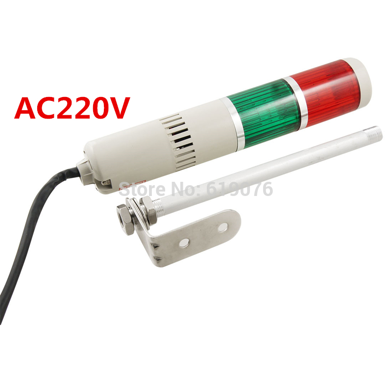 90dB DC12V DC24V AC110V AC220V Red Green Buzzer Sound Industrial Warning Signal Tower Alarm Lamp Alarm Apparatus