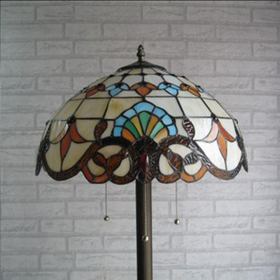 160 x 40CM European retro high - grade Tiffany floor lamps home decorations lights LED stained glass floor lamps