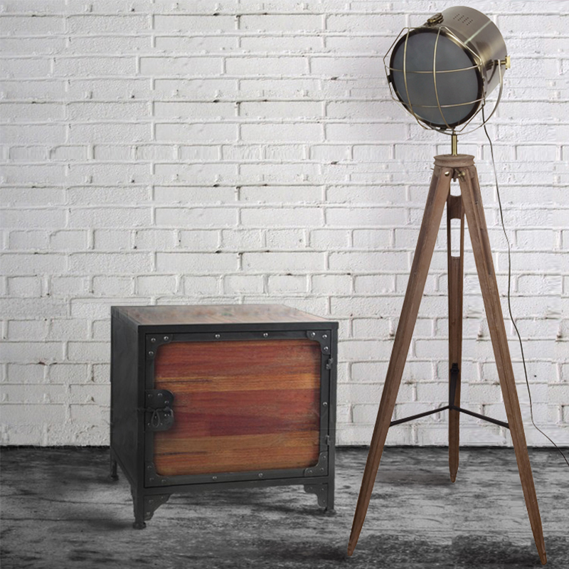 lamps Nordic Industrial lamp three tripod photography Lamp Vintage Old wood American living room LOFT illumination lamp post