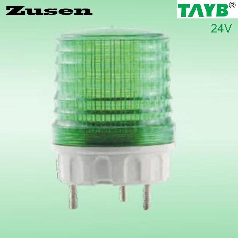 Zusen TB5051 24V green led  Signal lamp Warning Light LED small Flashing Light