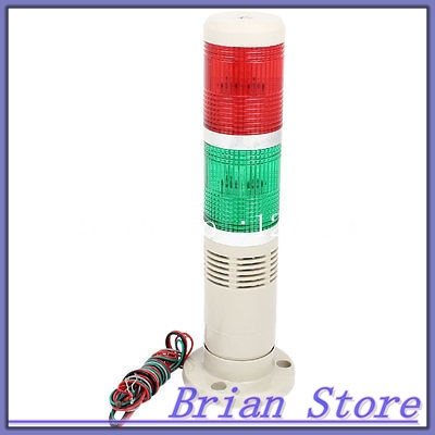 Green Red Flashing Industrial Signal Tower Stack Indicator Light Bulb DC 24V