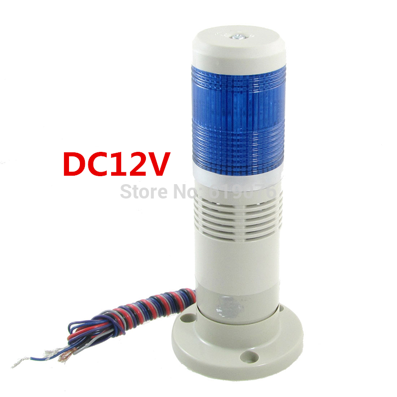 DC 12V Blue Industrial Signal Tower Lamp