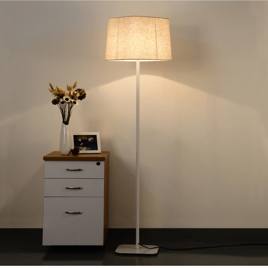 160CM Modern minimalist black white iron floor lamp living room bedroom bedside lamp fashion lighting