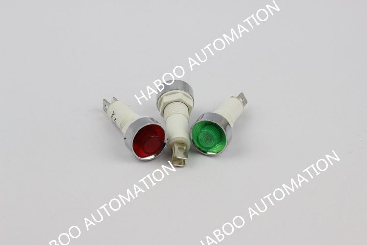 100pcs/lot 12v mini led indicator lights dia.10mm signal indicator 12V 24V 220V red ,green yellow color 12V 24V 220V