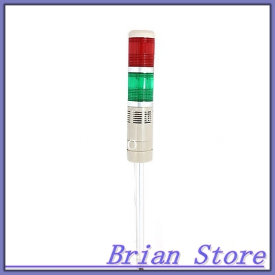 Green Red Industrial Signal Tower Alarm Indicator Warning Light Lamp DC 24V 10W