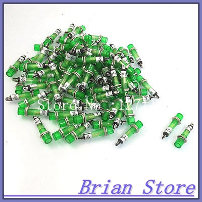 100 Pcs DC 24V 7mm Green Bulb Power Signal Indicator Light Pilot Lamp XD7-1
