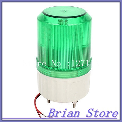 Green LED Flash Industrial Signal Tower Stack Buzzer Indicator Light 90dB DC 24V
