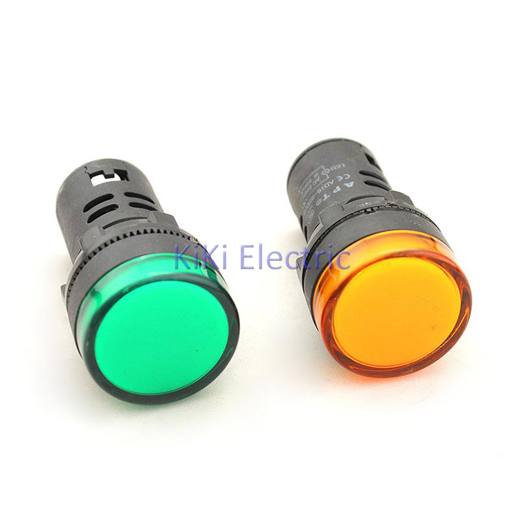 AD16-22DS Five Color White,Red,Blue,Yellow,Green 22mm Led Indicator lamp 220v 12v 24V 220v 380v Elecrtric Signal Lamp pilot lamp