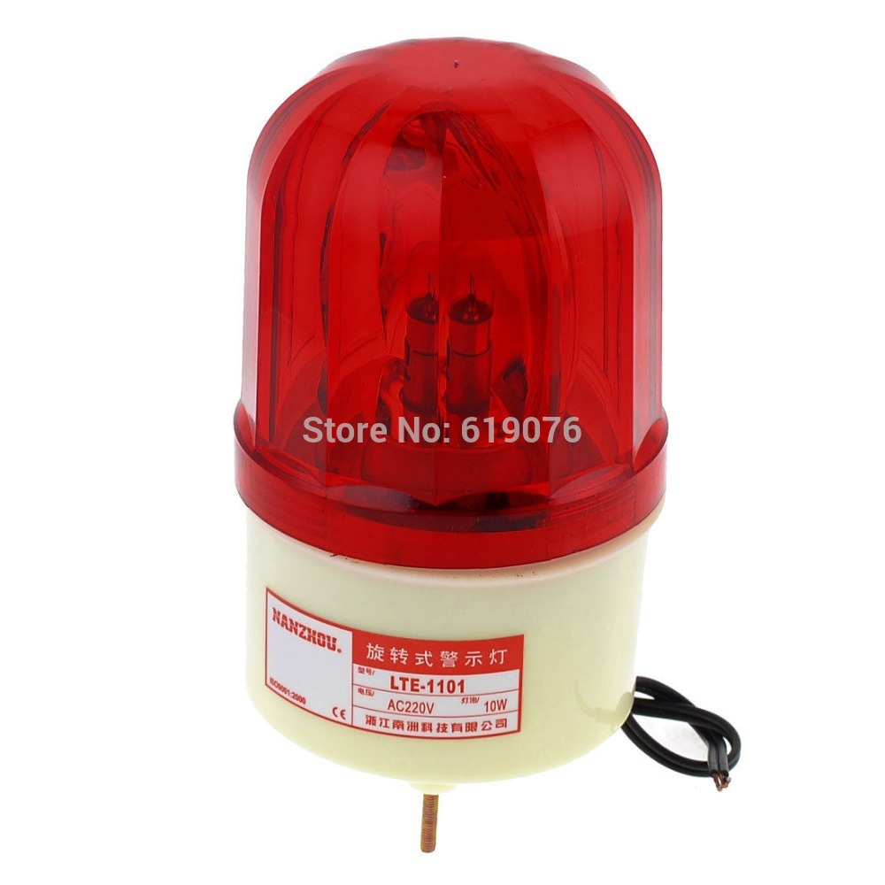 AC 220V 10W Buzzer Sound Industrial Signal Tower Rotating Light Warning Lamp LTE-1101