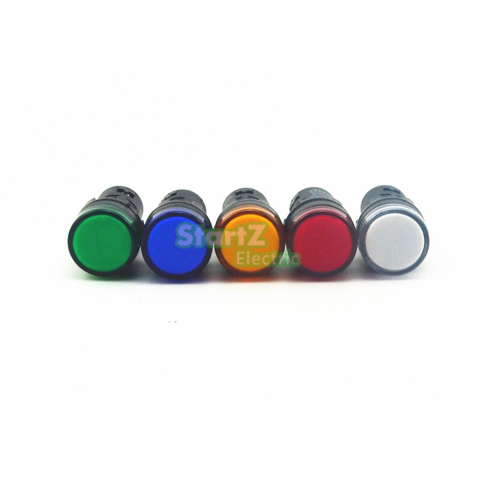 10PCS AC/DC 380V 22mm  Thread LED for Electronic Indicator Signal Light Five color optional ,default red AD16-22