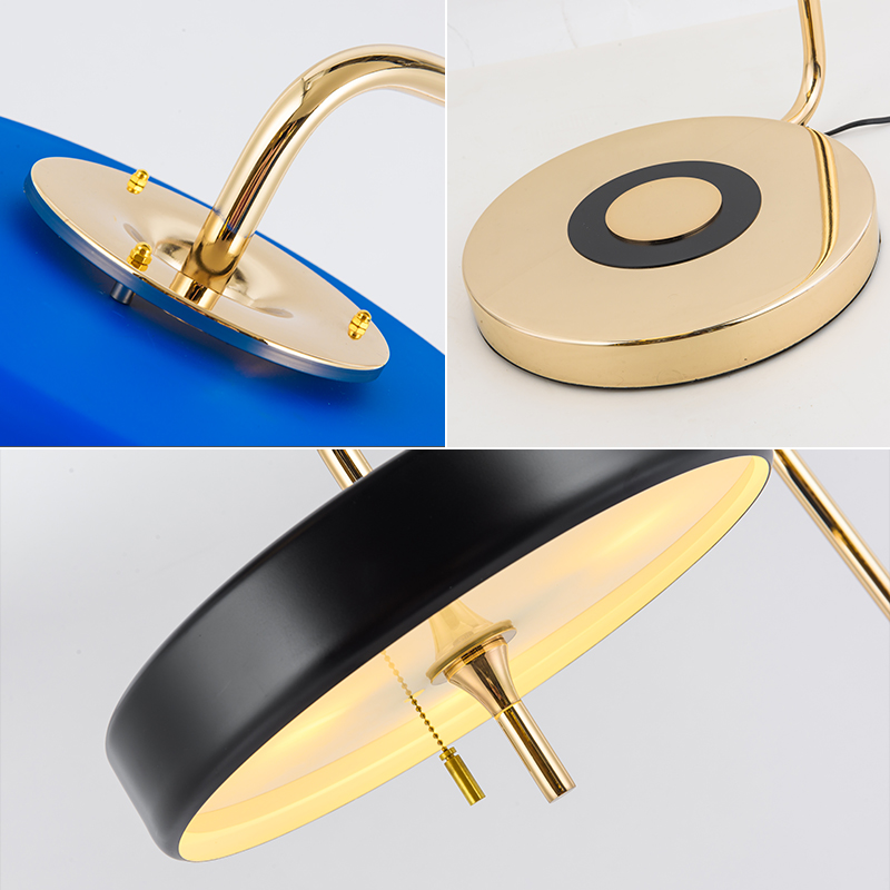 FUMAT Floor Lamps Modern Floor Lighting Retro Metal LED Standing Lamp for Bed Room Bert Frank Floor Lamp Black White Blue