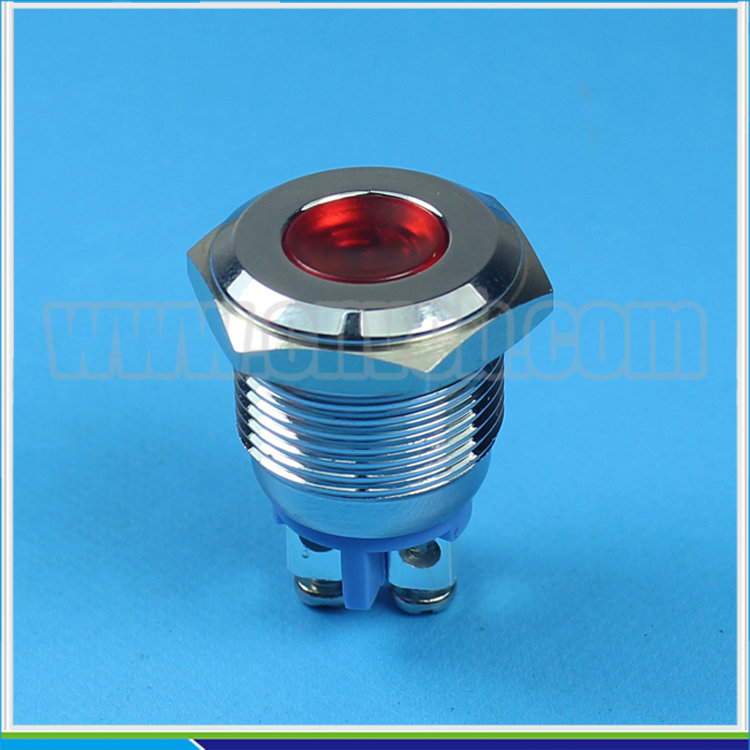 IN21 Metal waterproof led indicator 16mm Panel Mounting red LED Indicator