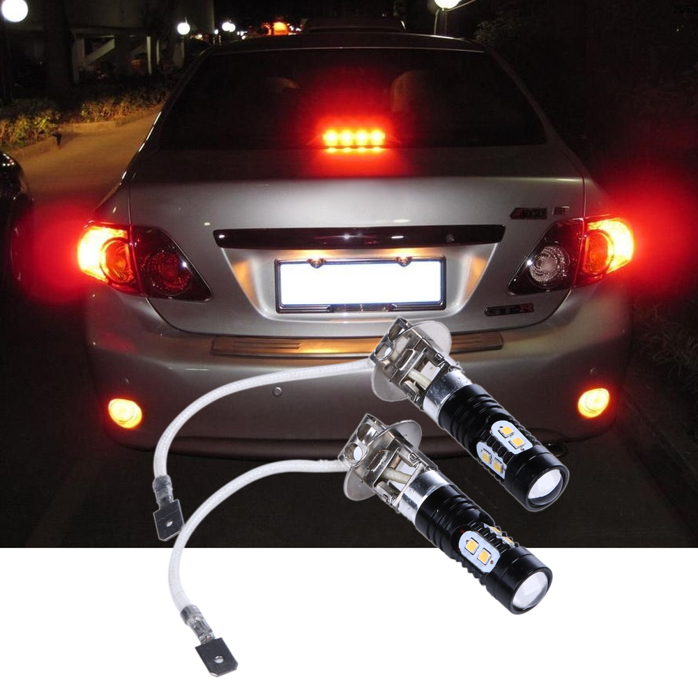 2pcs 10W DC12V Car/Vehicle  LED Fog Light High Brightness Modified Black LED Fog Light Car Indicator Lamp