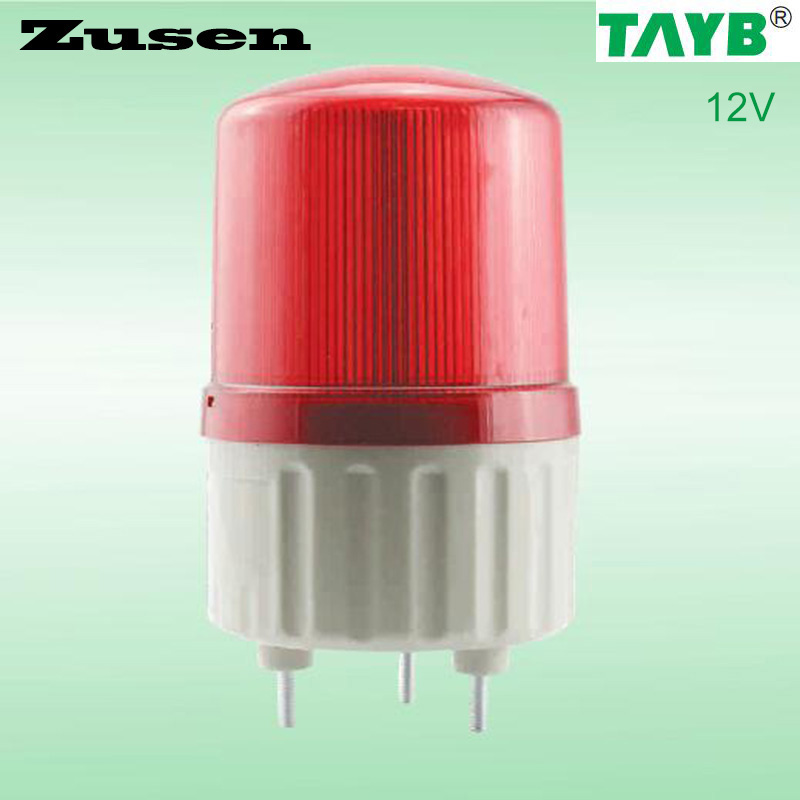 Zusen 12v TB1081J  Alarm  rolling Signal Warn Warning Siren RED LED Lamp with buzzer