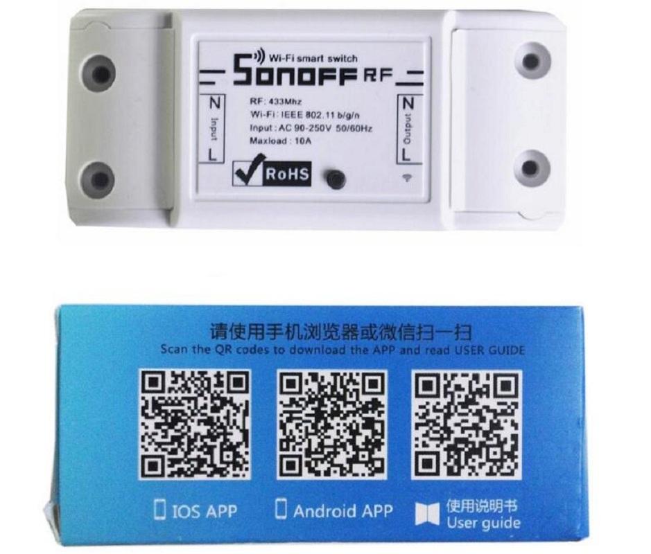 Itead Sonoff Wifi Switch RF 433mhz Wireless Remote Light
