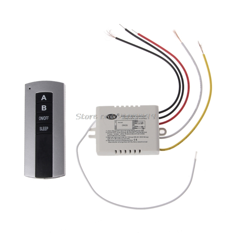 Wireless 1 Channel 2 Channel 3 Channel ON/OFF Lamp Remote Control Switch Receiver Transmitter #G205M# Best Quality