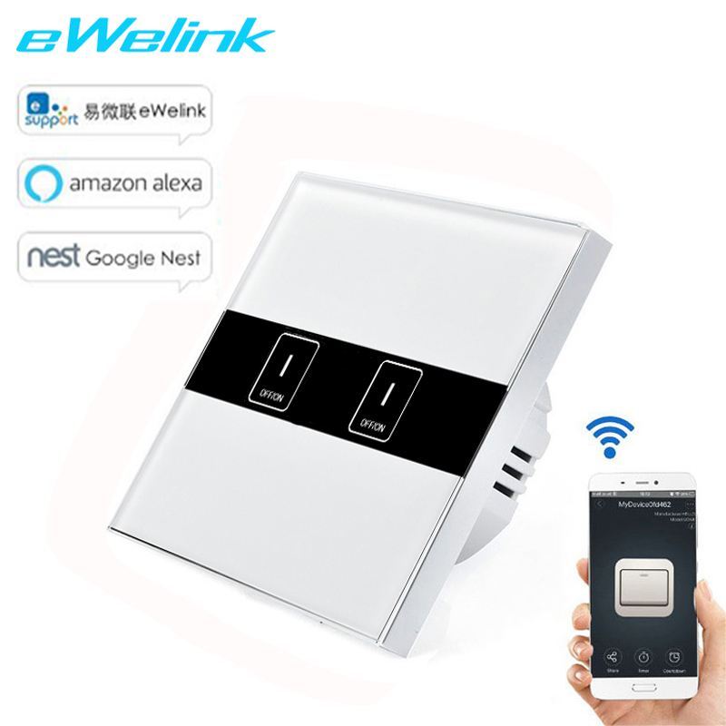 EU Standard eWelink APP Wireless Control Light Switch,Wifi Control Switch via Android and IOS for RF433 Smart Home touch switch