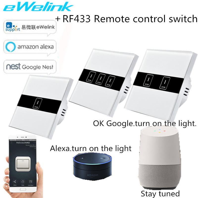 EU Standard eWelink APP Wireless Control Light Switch,Wifi