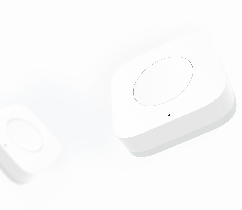 Aqara Wireless Mini Switch(Advanced) Battery powered Control smart devices activate at the gentle touch of zhe switch