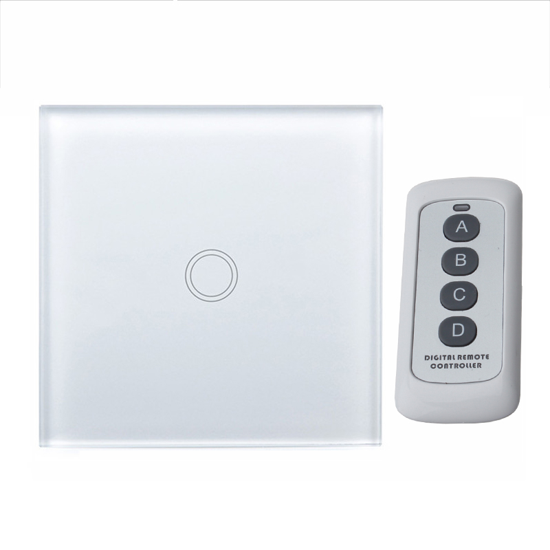 Wall Switch, Touch Switch,1 Gang/2Gang/3Gang One-way Touch Screen Wall Light Switch,170~240V Touch Screen Wall Light Switch