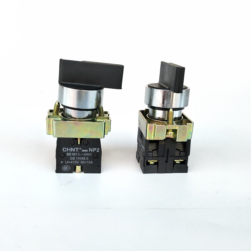 2PCS/Lot CHINT NP2-BJ53  3 Position Selector  Push Button 2NO Selector Switch XB2-BJ53 Spring Return