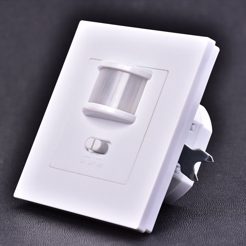 LED Lights Switches Smart PIR Infrared Motion Sensor Light Switch Wall Mounted Socket Adapter 110V-240V AC Intelligent  CLH