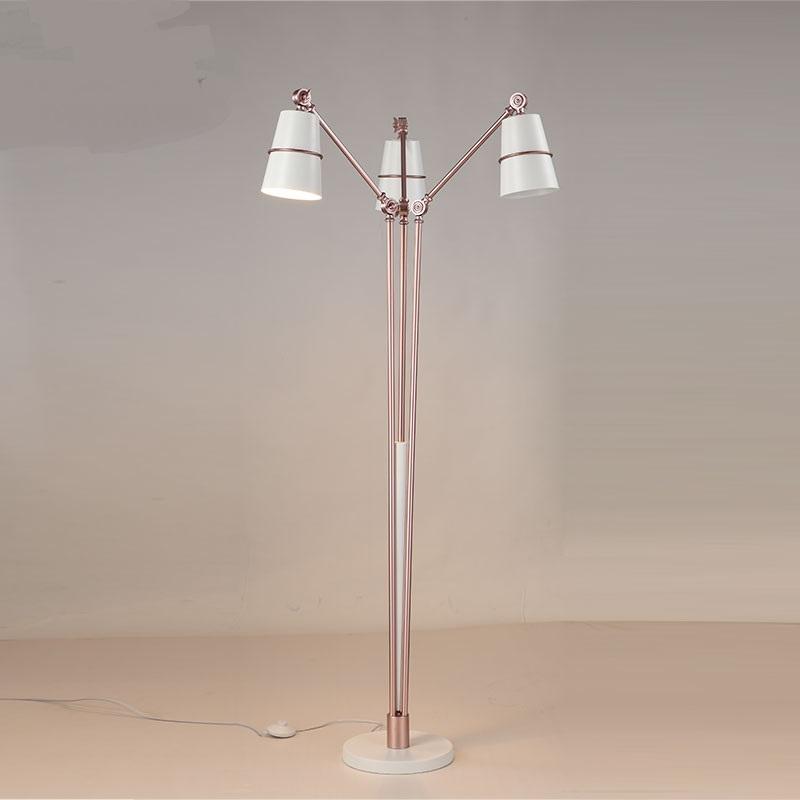 Careful Modern Fishing Floor Lamp Stainless Steel Chrome Lampshade Floor Lamp Living Room Reading Bedroom Office Standing Lamp E27 Bulb Easy To Use Floor Lamps Lights & Lighting