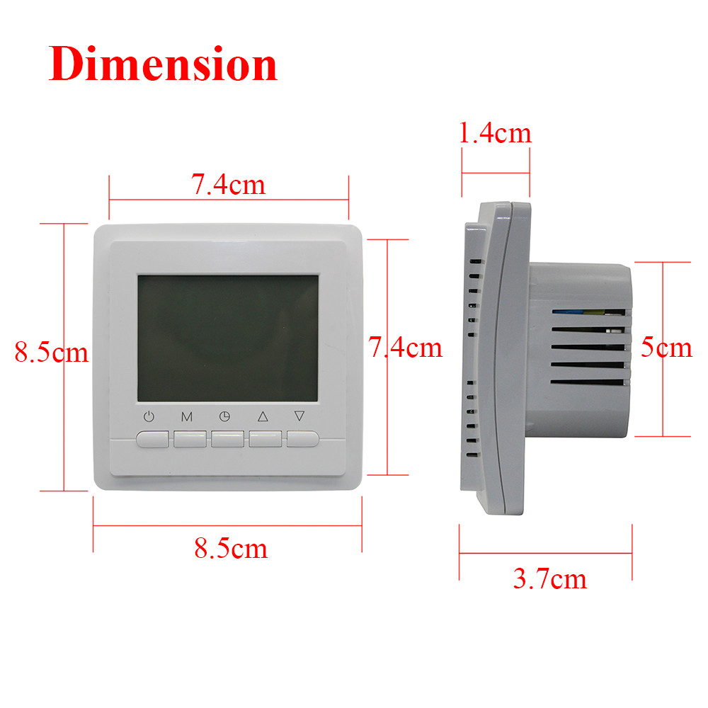 3A 220V Programmable  Room Digital Thermostat for Gas Boiler Electric boiler  LCD Screen Temperature Controller weekly programme