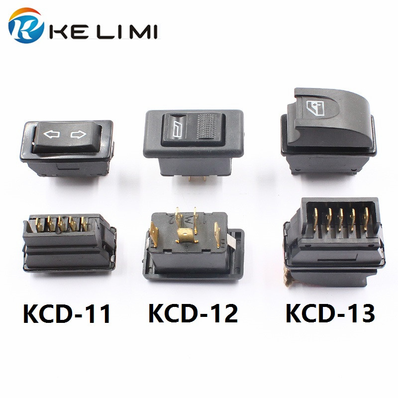 KE LI MI Car Electric Power Window Lifter Controller Control Switch Button Power Window Lifter 5 pins 20A Switches 12cm sockets