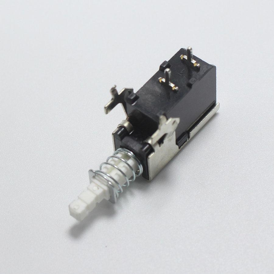 Eclyxun 5pcs A04 2 Pin Unidirection Push Button Switch Dc 12v 50ma Selflock Square Led Light Momentary Latching Tv