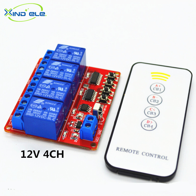 Universal DC 12V 10A Relay Wireless Remote Control Switch Transmitter + Receiver Light Switch + DC Female Connector Wire