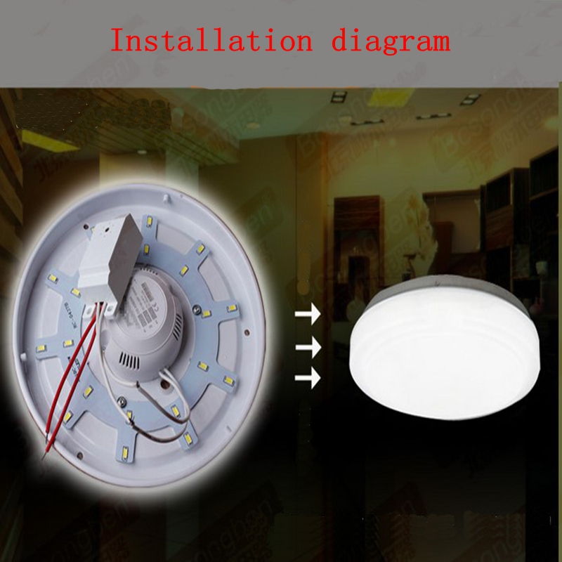 Installation of voice control module switch LED sound and light control built - in intelligent corridor delay sensor switch four