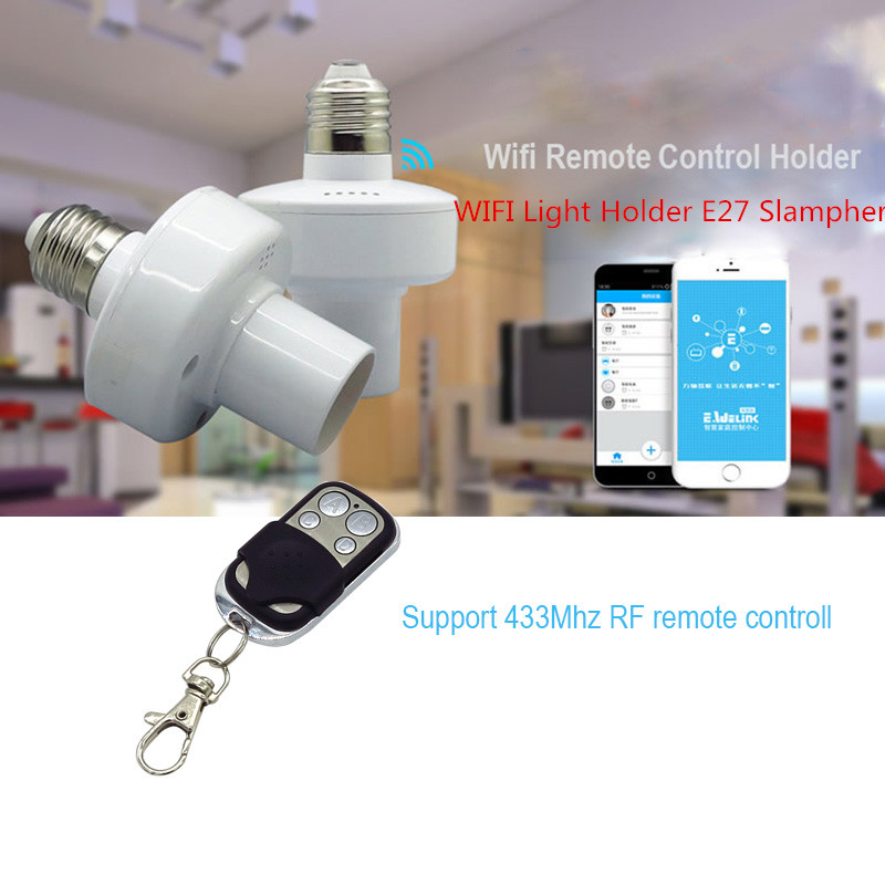 Itead Sonoff Home Light Holder E27 Slampher WiFi RF 433MHz Wireless Intelligent Home Switch Module Wholesale