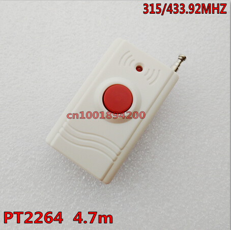 1CH Remote Control Big 1 Button Key RF Transmitter Wireless emergency button 315/433.92 call Button Panic Button 20-300m SOS