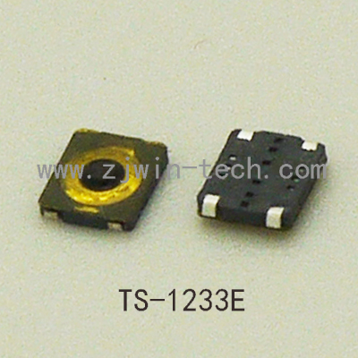 10PCS/lot Ultra Small Ultra low Profile Phone Switch Button Momentary Tactical Button Switch 3X3mm Super Tiny SMD TS-1233E
