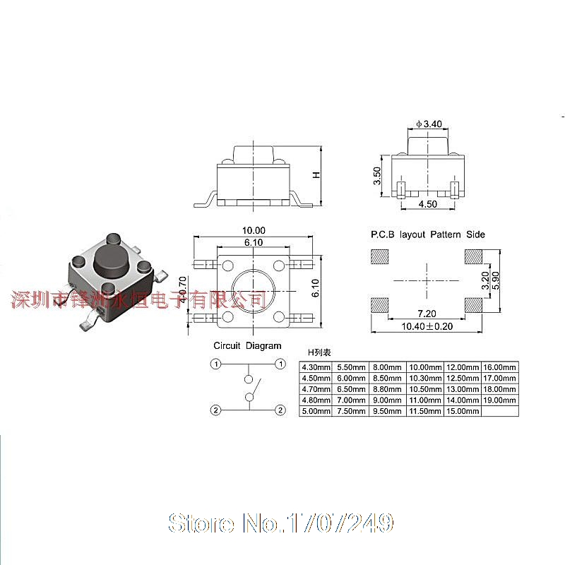 10 models 200pcs 6*6 Tact Switch Tactile Push on Switch Kit ... on 4 pin telephone jack wiring, atv winch wiring diagram, 4 pin toggle switch, 4 pin wiring harness, 4 pin fan diagram, 4 pin switch wire, rocker switch diagram, solenoid wiring diagram, 4 pin lift switch,