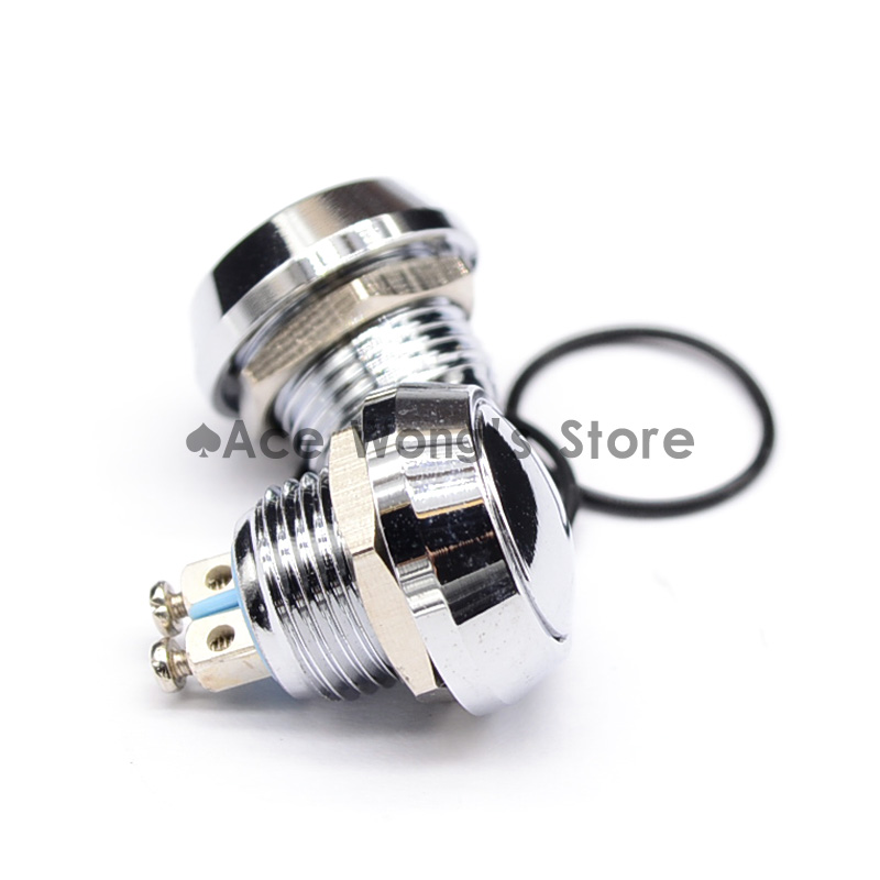 12mm Start Horn Button Momentary Stainless Steel Metal Push Button Switch Hot Worldwide