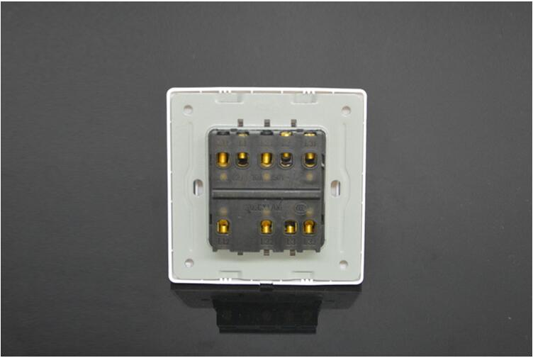 86 type 86*86MM 10A/220V concealed installation Single or double control wall panel electrical switchs power on-off 1 2 3 4 bit