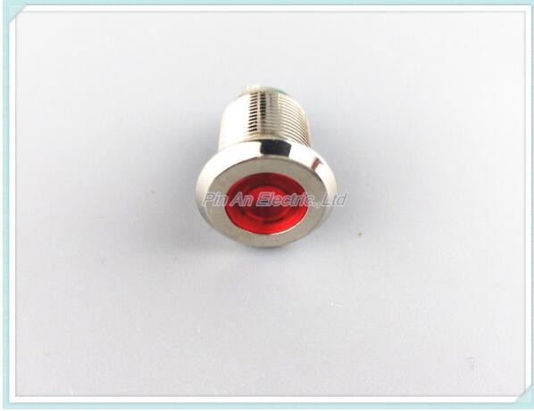 AC 220V 16mm metal indicator light signal lamp LED lamp waterproof stainless steel