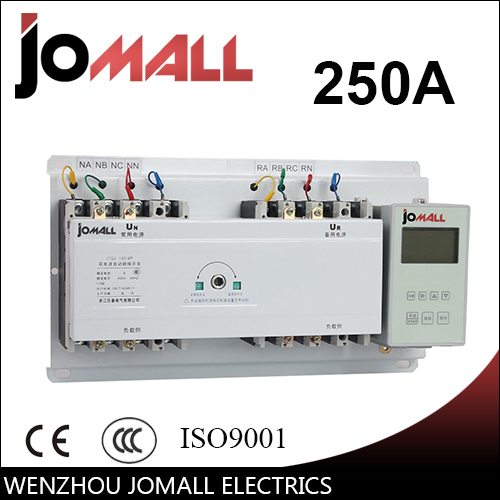 JOTTA 250A 3 poles 3 phase automatic transfer switch ats with English controller