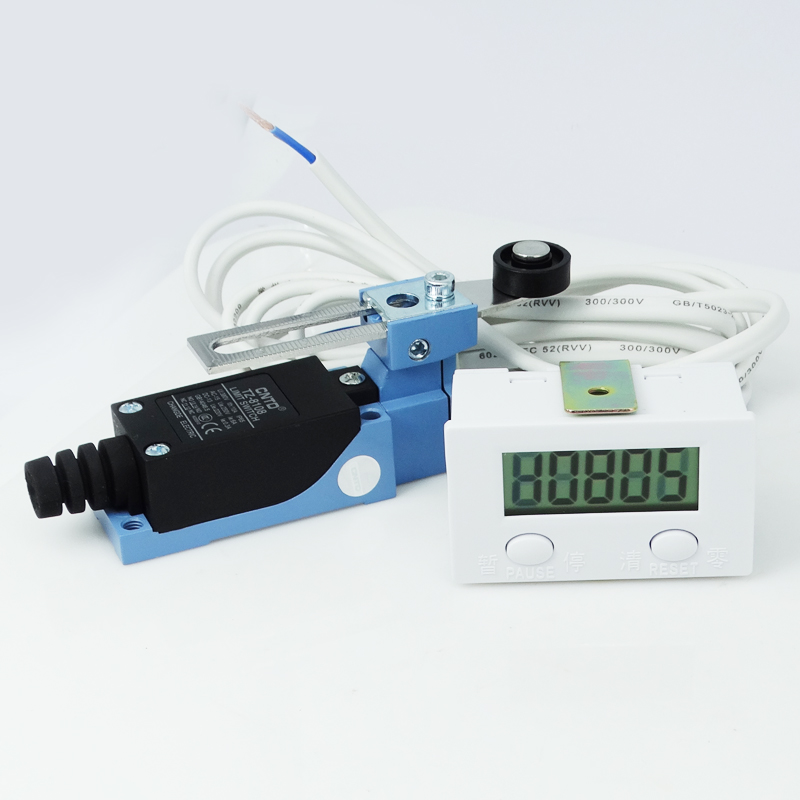 5 Digital Display Counter Kits Magnetic Sensor Switch Micro Switch Push Button Switch Limit Switch with 2 Meters Wire