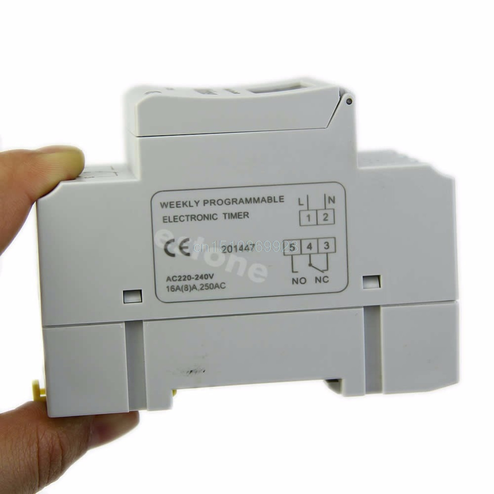 1pc Time Relay Switch Din Rail Digital Lcd Power Programmable Timer No Nc Ac 220v 16a Purchasing Souring Agent Service